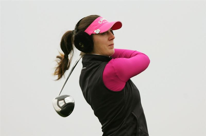 INCHEON, SOUTH KOREA - NOVEMBER 01:  Sandra Gal of Germany hits a teeshot on the the 2th hole during final round of Hana Bank Kolon Championship at Sky 72 Golf Club on November 1, 2009 in Incheon, South Korea.  (Photo by Chung Sung-Jun/Getty Images)