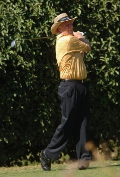 Howard Twitty hits from the sixth tee  during the second round of the Champion's TOUR 2005 SBC Championship at Oak Hills Country Club in San Antonio, Texas October 22, 2005.Photo by Steve Grayson/WireImage.com