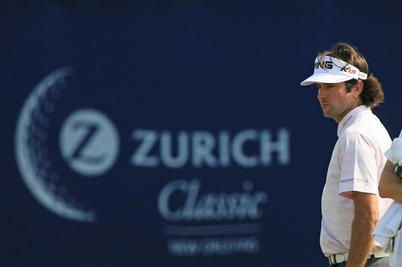 NEW ORLEANS, LA - APRIL 30: Bubba Watson stands on the 16th green during the third round of the Zurich Classic at the TPC Louisiana on April 30, 2011 in New Orleans, Louisiana. (Photo by Hunter Martin/Getty Images)