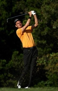 Jesper Parnevik tees off on the 6th hole during the second round of the Valero Texas Open at La Cantera Golf Club October 5, 2007 in San Antonio, Texas. PGA TOUR - 2007 Valero Texas Open - Second RoundPhoto by Jonathan Ferrey/WireImage.com