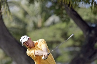 Bart Bryant drives off the 4th tee during the second round of the Sony Open held at the Waialae Country Club in Honolulu, Hawaii on January 12, 2007. PGA TOUR - 2007 Sony Open - Second RoundPhoto by Marco Garcia/WireImage.com