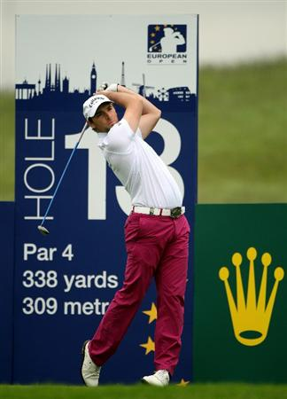ASH, UNITED KINGDOM - MAY 28:  Oliver Wilson of England tees off on the 13th hole during the first round of The European Open on May 28, 2009 at The London Golf Club in Ash, England.  (Photo by Andrew Redington/Getty Images)