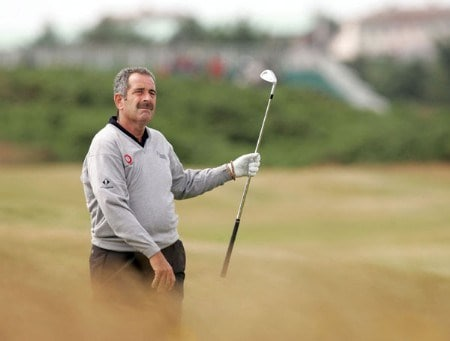 Sam Torrance at the second hole during the second round of the 2005 Senior British Open at the Royal Aberdeen Golf Club in Aberdeen, Scotland on July 22, 2005.Photo by Peter Kelly/WireImage.com