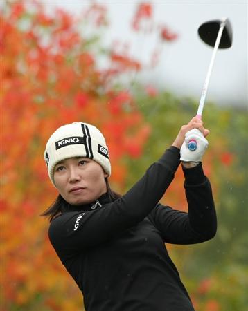 SHIMA, JAPAN - NOVEMBER 09:  Eun-A Lim of South Korea makes a tee shot on the second hole during the final round of 2008 Mizuno Classic at Kintetsu Kashikojima Country Club on November 9, 2008 in Shima, Mie, Japan.  (Photo by Koichi Kamoshida/Getty Images)