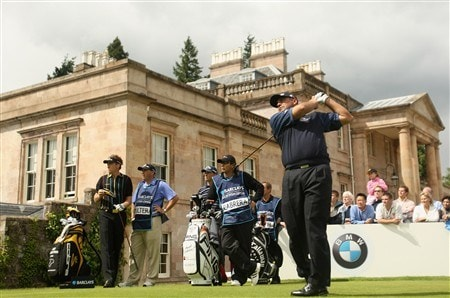 LUSS, UNITED KINGDOM - JULY 11:  Angel Cabrera of Argentina tees off on the 9th hole during the Second Round of The Barclays Scottish Open at Loch Lomond Golf Club on July 11, 2008 in Luss, Scotland. (Photo by Warren Little/Getty Images)