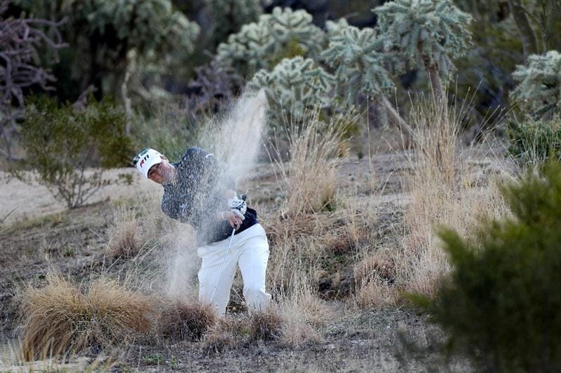 MARANA, AZ - FEBRUARY 24:  Ryan Palmer hits from the rough on the second hole during the second round of the Accenture Match Play Championship at the Ritz-Carlton Golf Club on February 24, 2011 in Marana, Arizona.  (Photo by Sam Greenwood/Getty Images)