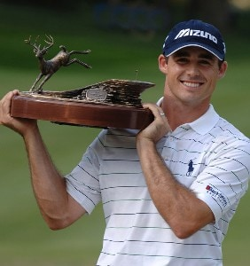 SILVIS, IL - JULY 15:  Jonathan Byrd wins the final round of The John Deere Classic at the TPC Deere Run on July 15, 2007 in Silvis, Illinois.   (Photo by Marc Feldman/WireImage)  *** Local Caption *** Jonathan Byrd PGA TOUR - 2007 John Deere Classic - Final RoundPhoto by Marc Feldman/WireImage)  *** Local Caption *** Jonathan Byrd