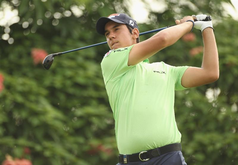 KUALA LUMPUR, MALAYSIA - APRIL 14:  Matteo Manassero of Italy in action during the first round of the Maybank Malaysian Open at Kuala Lumpur Golf & Country Club on April 14, 2011 in Kuala Lumpur, Malaysia.  (Photo by Ian Walton/Getty Images)