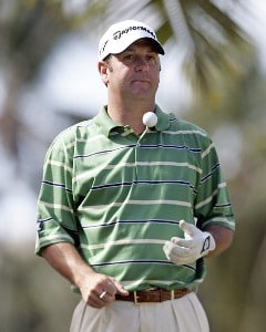 Harrison Frazar is seen on the 4th tee during the third round of the Sony Open in Hawaii held at Waialae Country Club in Honolulu, Hawaii, on January 13, 2007. Photo by Marco Garcia/WireImage.com