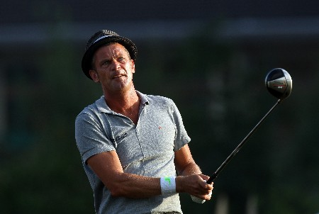 LAKE BUENA VISTA, FL - NOVEMBER 02:  Jesper Parnevik of Sweden tees off at the 10th hole on the Palm Course during the second round of The Childrens Miracle Network Classic held on the Palm and Magnolia Courses at The Disney Shades of Green Resort, on November 2, 2007 in Lake Buena Vista, Florida.  (Photo by David Cannon/Getty Images)
