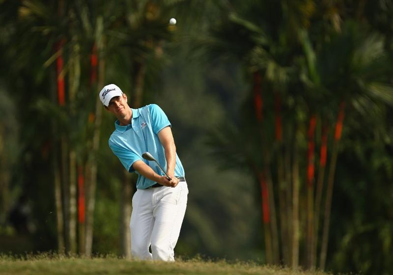 KUALA LUMPUR, MALAYSIA - FEBRUARY 13:  Adam Blyth of Australia in action during the round two of the 2009 Maybank Malaysian Open at Saujana Golf and Country Club on February 13, 2009 in Kuala Lumpur, Malaysia.  (Photo by Ian Walton/Getty Images)