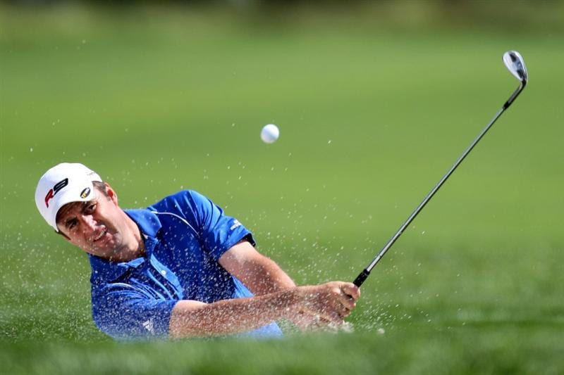 FARMINGDALE, NY - JUNE 17:  Richard Bland of England hits a shot during the third day of previews to the 109th U.S. Open on the Black Course at Bethpage State Park on June 17, 2009 in Farmingdale, New York.  (Photo by Ross Kinnaird/Getty Images)