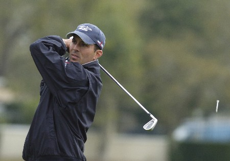Mike Weir drives off the 14th tee  as second-day play resumes in  the first round of the Bay Hill Invitational March 18, 2005 in Orlando.