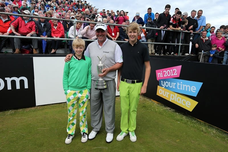Darren Clarke and sons Tyrone and Conor