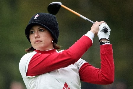 HALMSTAD, SWEDEN - SEPTEMBER 16:  Stacy Prammanasudh of the U.S. hits a shot on the 14th hole during the singles matches of the 2007 Solheim Cup at Halmstad Golf Club September 16, 2007 in Halmstad, Sweden.  (Photo by Scott Halleran/Getty Images)
