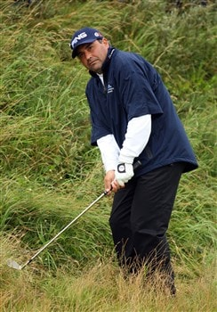 SOUTHPORT, UNITED KINGDOM - JULY 18:  Angel Cabrera of Argentina plays out of the rough on the 11th during the second round of the 137th Open Championship on July 18, 2008 at Royal Birkdale Golf Club, Southport, England.  (Photo by Ross Kinnaird/Getty Images)