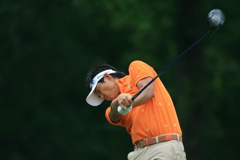 FT. WORTH, TX - MAY 19: Ryuji Imada of Japan hits his tee shot on the 12th hole during the first round of the Crowne Plaza Invitational at Colonial Country Club on May 19, 2011 in Ft. Worth, Texas. (Photo by Hunter Martin/Getty Images)