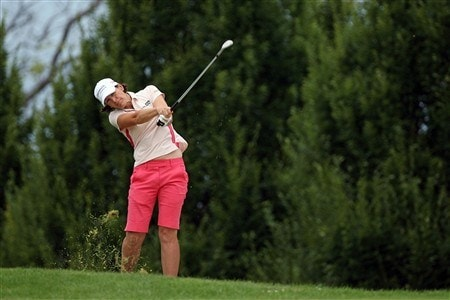 EVIAN, FRANCE - JULY 25:  Juli Inkster of the USA hits her second shot on the 5th hole during the second round of the Evian Masters on July 25, 2008 at the Evian Masters Golf Club in Evian, France.  (Photo by Andy Lyons/Getty Images)