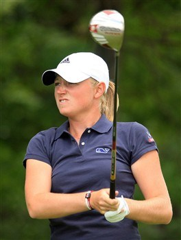 EDINA, MN - JUNE 28:  Stacy Lewis watches her tee shot on the third hole during the third round of the 2008 U.S. Women's Open at Interlachen Country Club on June 28, 2008 in Edina, Minnesota.  (Photo by Scott Halleran/Getty Images)