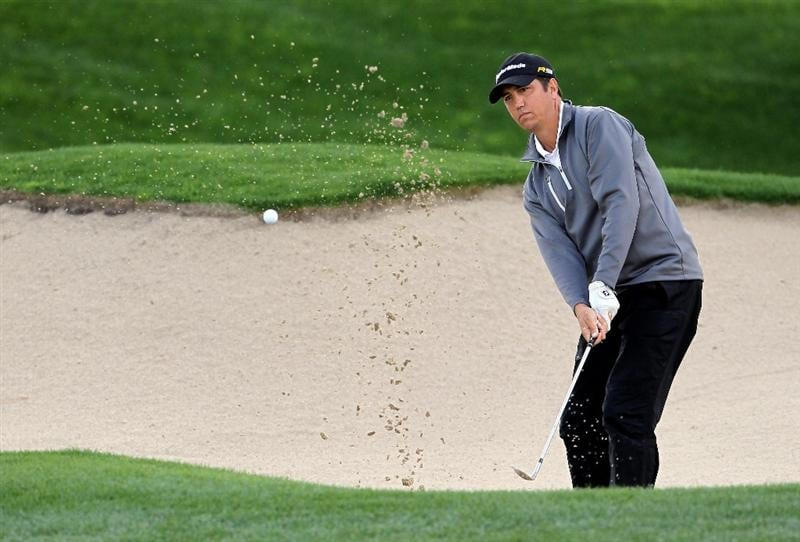 LA QUINTA, CA - JANUARY 22:  Shane Bertsch hits a bunker shot to the eighth green during the second round of the Bob Hope Classic at the Palmer Private Course at PGA West on January 22, 2010 in La Quinta, California.  (Photo by Jeff Gross/Getty Images)