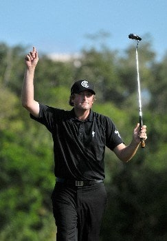QUINTANA ROO, MEXICO - FEBRUARY 24:  Steve Marino birdies the 18th hole to finish 2nd at the Mayakoba Golf Classic at Riviera Maya on Sunday, February 24, 2008 in Playa del Carmen, Quintana Roo, Mexico. (Photo by (Photo by Marc Feldman/Getty Images)