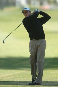 Stephen Leaney in action during the second round of the 2007 Bob Hope Chrysler Classic at Bermunda Dunes Country Club in Bermuda Dunes, California on January 18, 2007. PGA TOUR - 2007 Bob Hope Chrysler Classic - Second RoundPhoto by Steve Grayson/WireImage.com