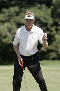 John Senden on the 14th hole during the final round of the John Deere Classic at TPC Deere Run in Silvis, Illinois on July 16, 2006.Photo by Michael Cohen/WireImage.com
