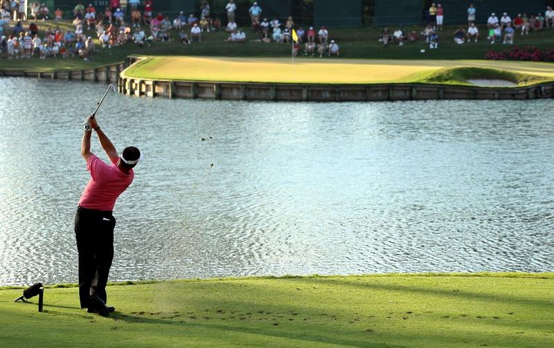PONTE VEDRA BEACH, FL - MAY 09:  Alex Cejka of Germany plays his tee shot on the 17th hole during the third round of THE PLAYERS Championship on THE PLAYERS Stadium Course at TPC Sawgrass on May 9, 2009 in Ponte Vedra Beach, Florida.  (Photo by Scott Halleran/Getty Images)
