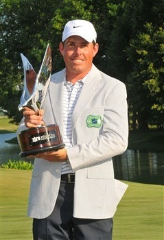 MEMPHIS, TN - JUNE 08:  Justin Leonard wins the Standford St. Jude Championship at the TPC Southwind on Sunday, June 8, 2008 in Memphis, Tennessee  (Photo by Marc Feldman/Getty Images)