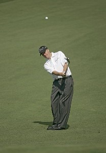 Joe Ogilvie during practice for the 2006 Masters at the Augusta National Golf Club in Augusta, Georgia on April 5, 2006.Photo by Sam Greenwood/WireImage.com