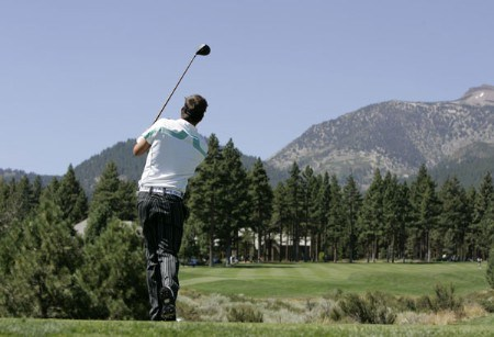 Fredrik Jacobson in action during the third round at the Reno-Tahoe Open,  August 20,2005, held at Montreux GC, Reno, Nevada.Photo by Stan Badz/PGA TOUR/WireImage.com