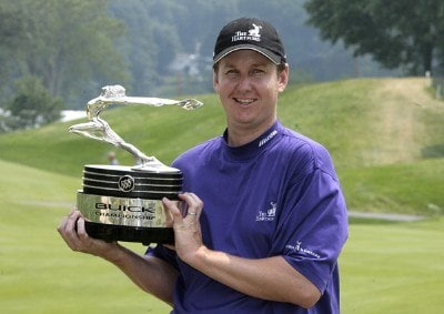 J.J. Henry  wins the 2006 Buick Championship held at TPC River Highlands in Cromwell, Connecticut, on July 2, 2006.Photo by Jim Rogash/WireImage.com