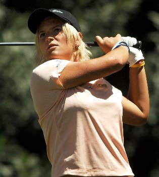 Nicole Perrot in action during the final round of the 2005 LPGA Takefuji Classic at the Las Vegas Country Club in Las Vegas, Nevada, April 16, 2005.Photo by Steve Grayson/WireImage.com