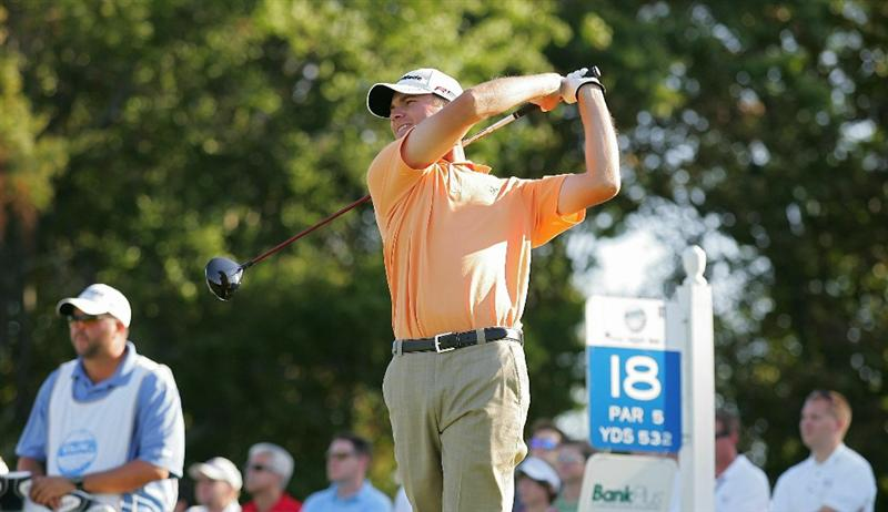 MADISON, MS - SEPTEMBER 30:  Sean O'Hair hits his drive on the 18th tee box during the first round of the Viking Classic held at Annandale Golf Club on September 30, 2010 in Madison, Mississippi.  (Photo by Michael Cohen/Getty Images)