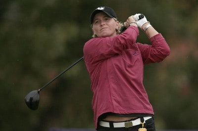 Becky Morgan of Wales during the second round of the 2006 Weetabix Women's British Open at the Royal Lytham and St. Annes Golf Club in Lytham, Great Britain on August 4, 2006.Photo by Pete Fontaine/WireImage.com