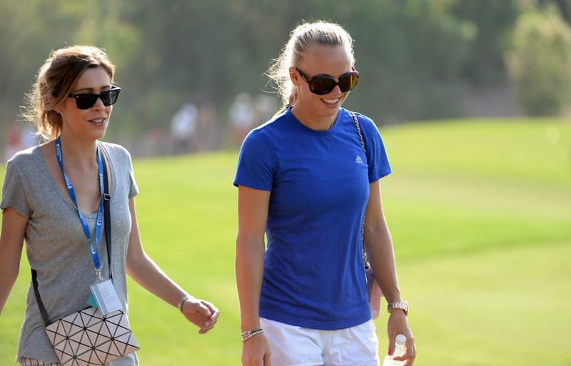 Valentina Molinari and Caroline Wozniacki