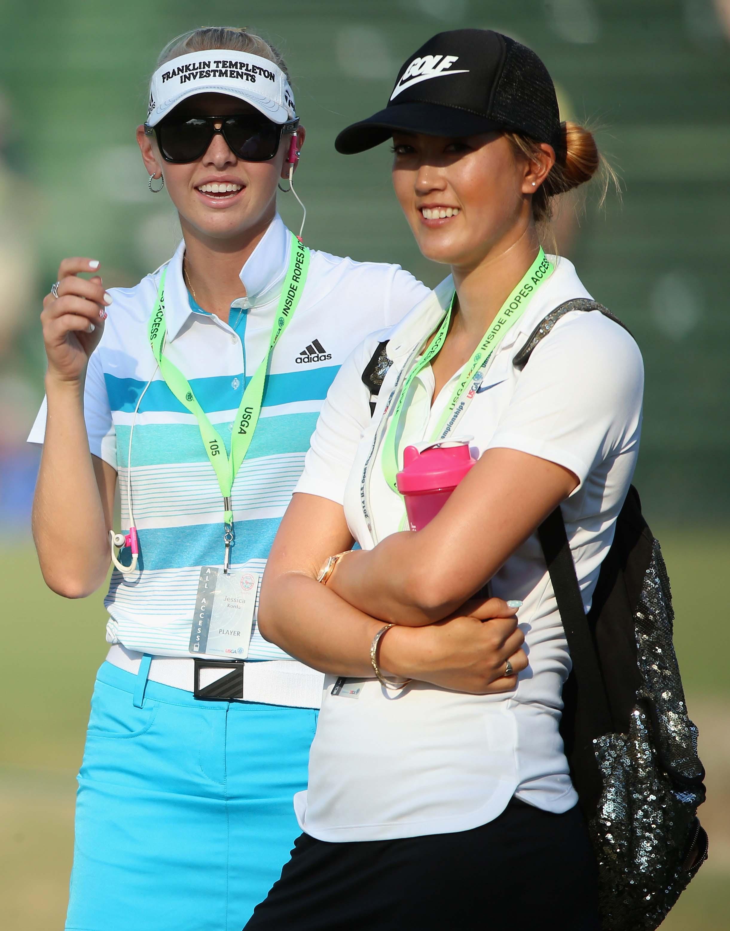 Jessica Korda and Michelle Wie