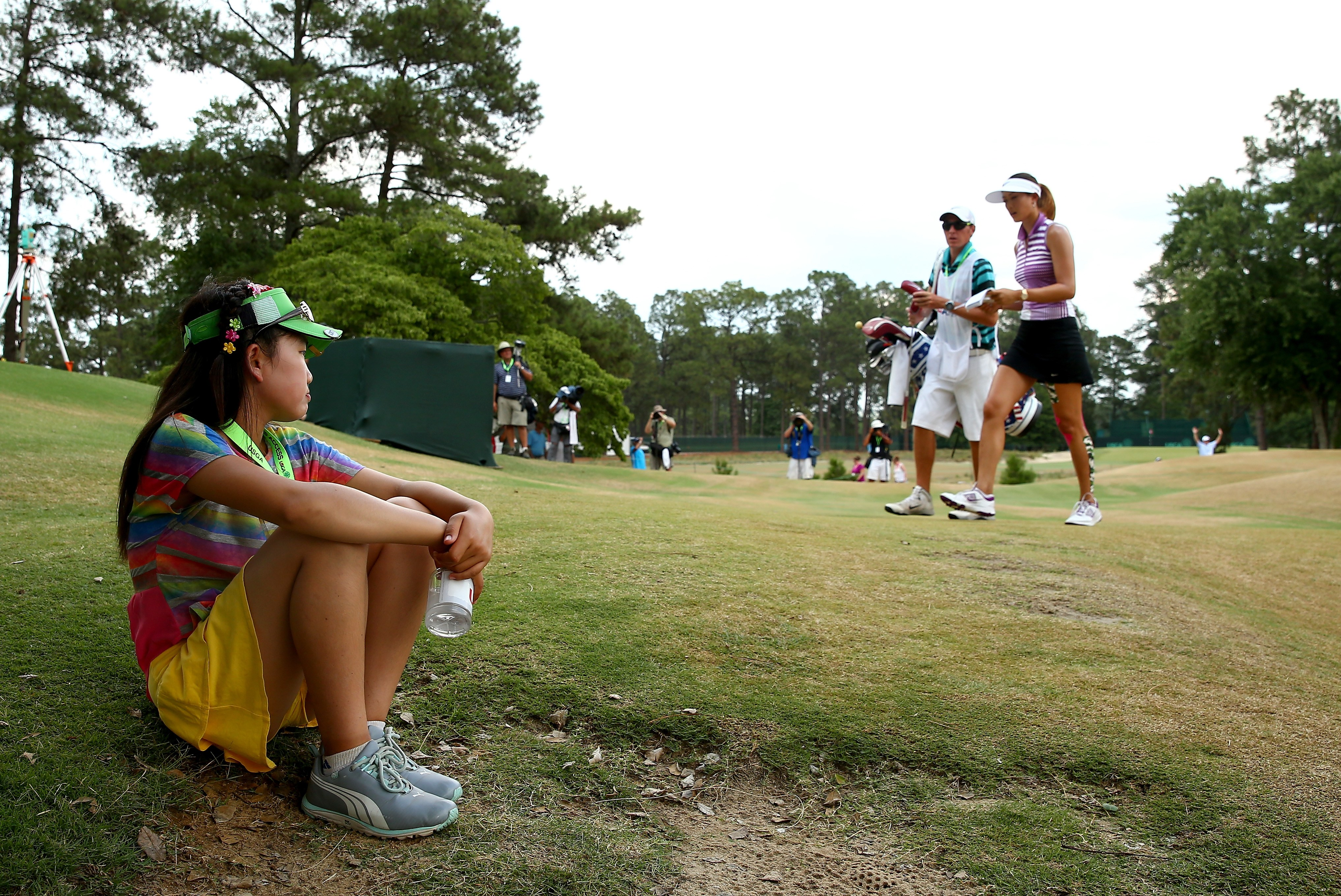 Lucy Li and Michelle Wie
