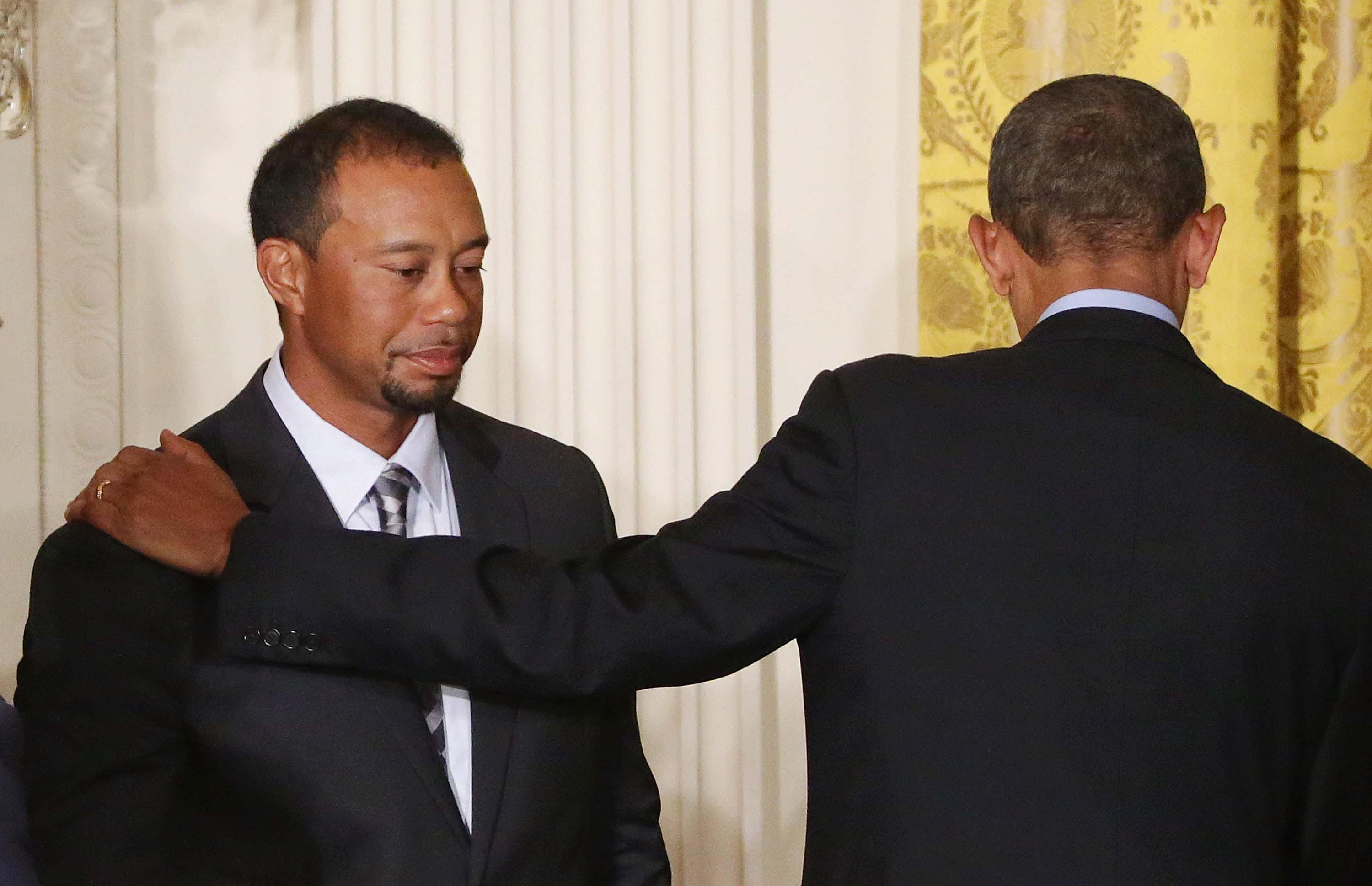 President Obama and Tiger Woods