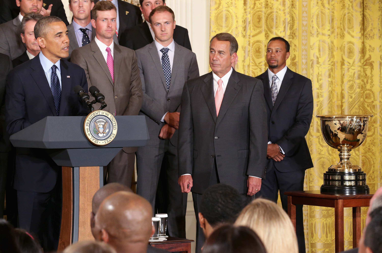 Prez Cup teams visit White House
