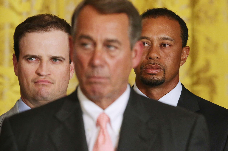 Zach Johnson, Tiger Woods and John Boehner