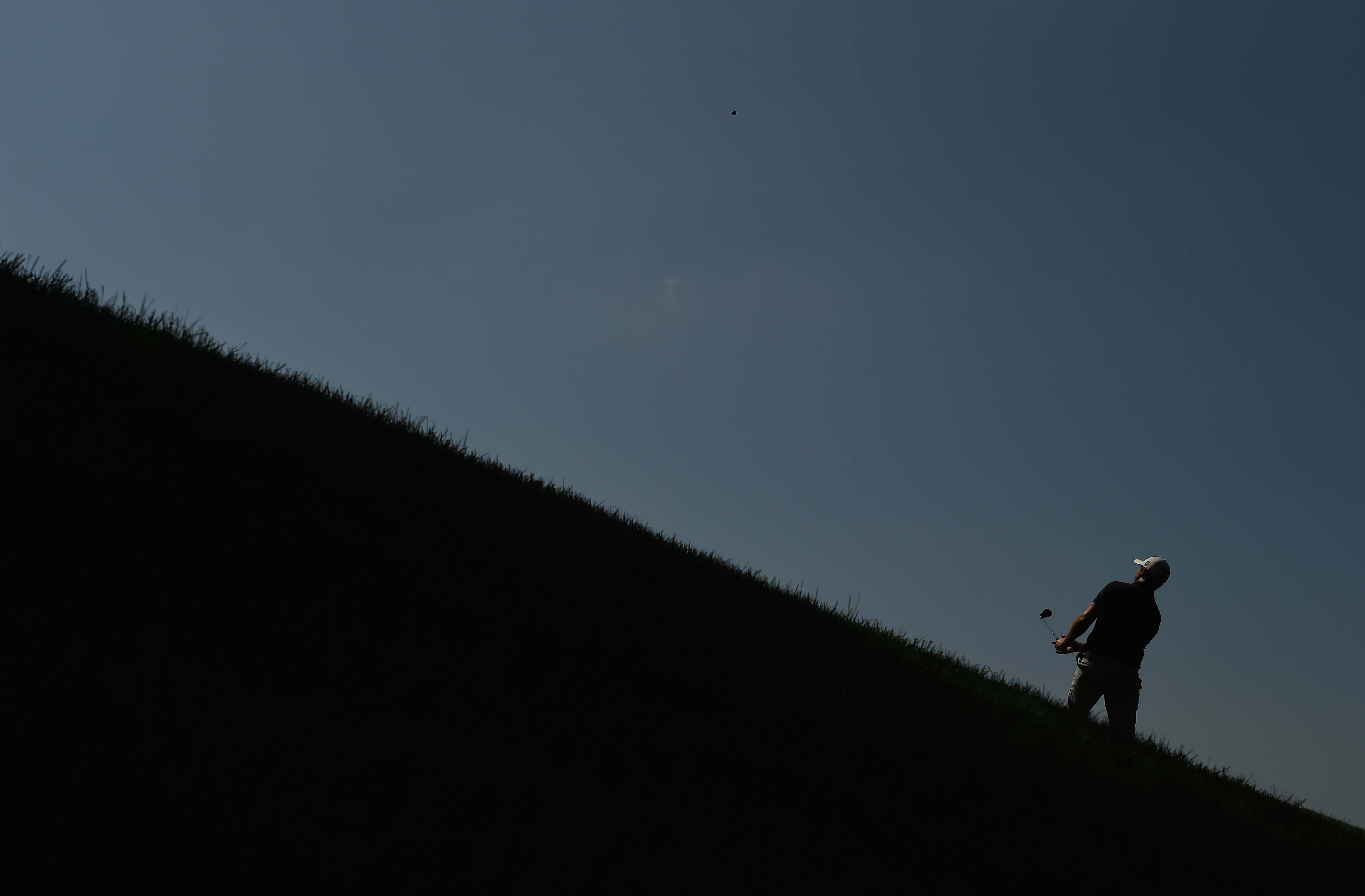 Now THAT is an uphill lie