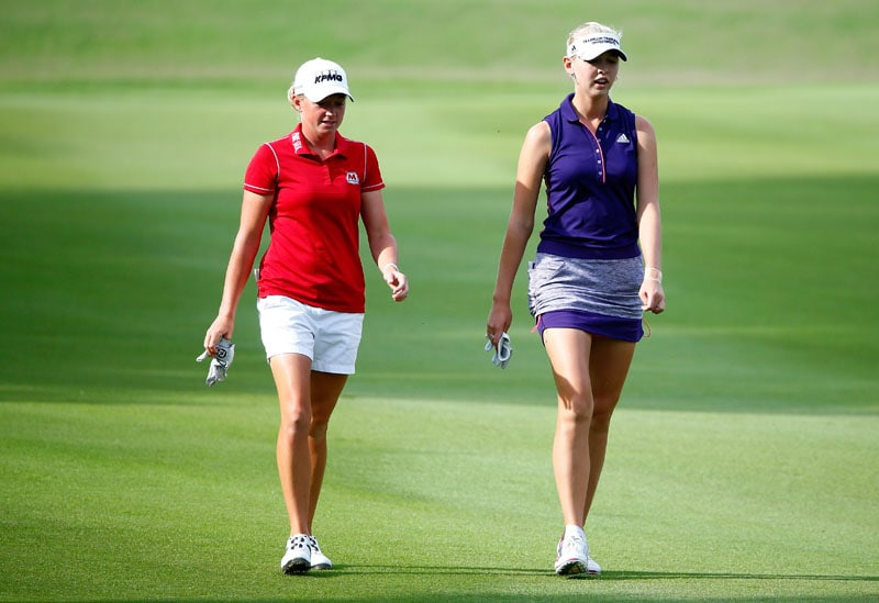 Stacy Lewis and Jessica Korda