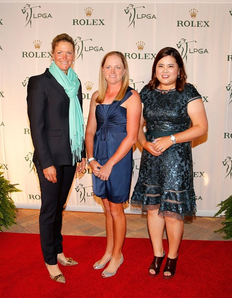 Suzann Pettersen, Stacy Lewis and Inbee Park