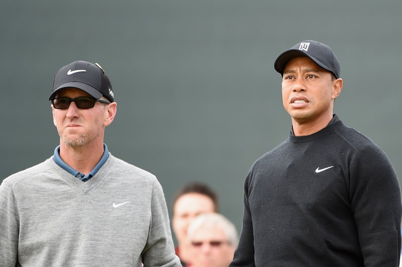 David Duval and Tiger Woods
