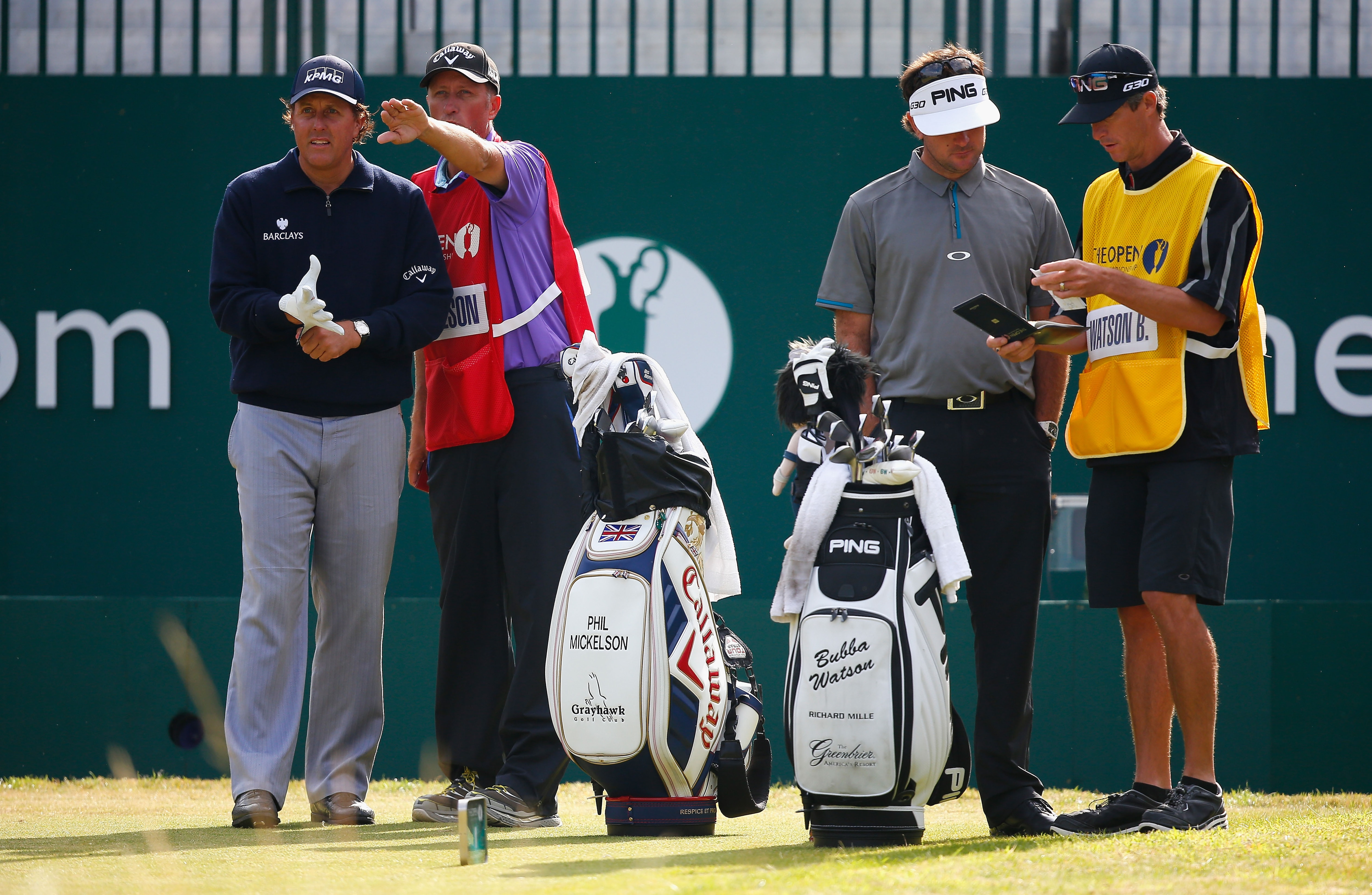 Phil Mickelson and Bubba Watson