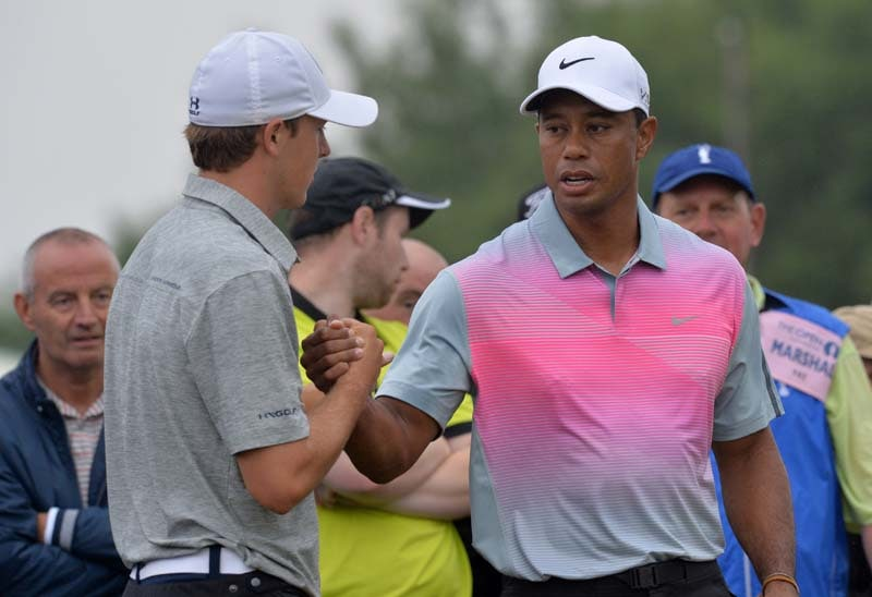 Jordan Spieth and Tiger Woods