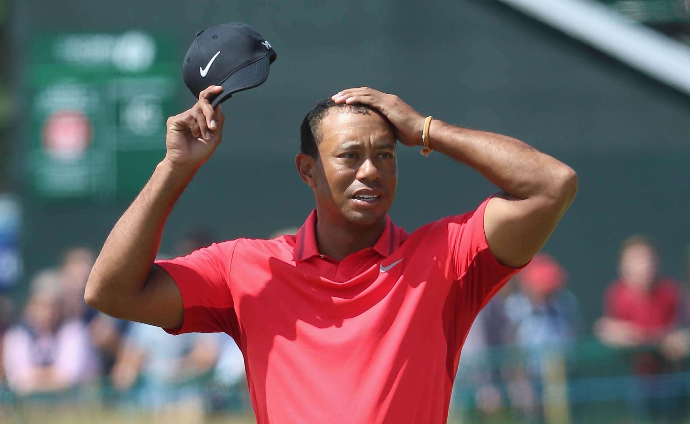 Tiger Woods dropping from the No. 1 ranking ... or