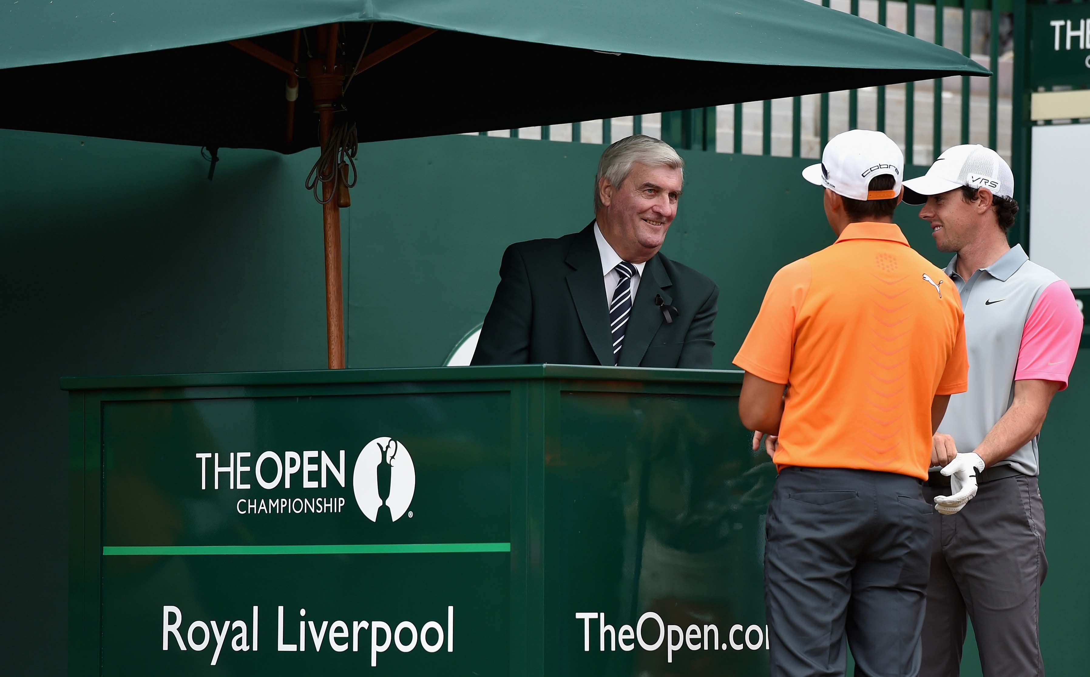 Rickie Fowler, Rory McIlroy and Ivor Robson