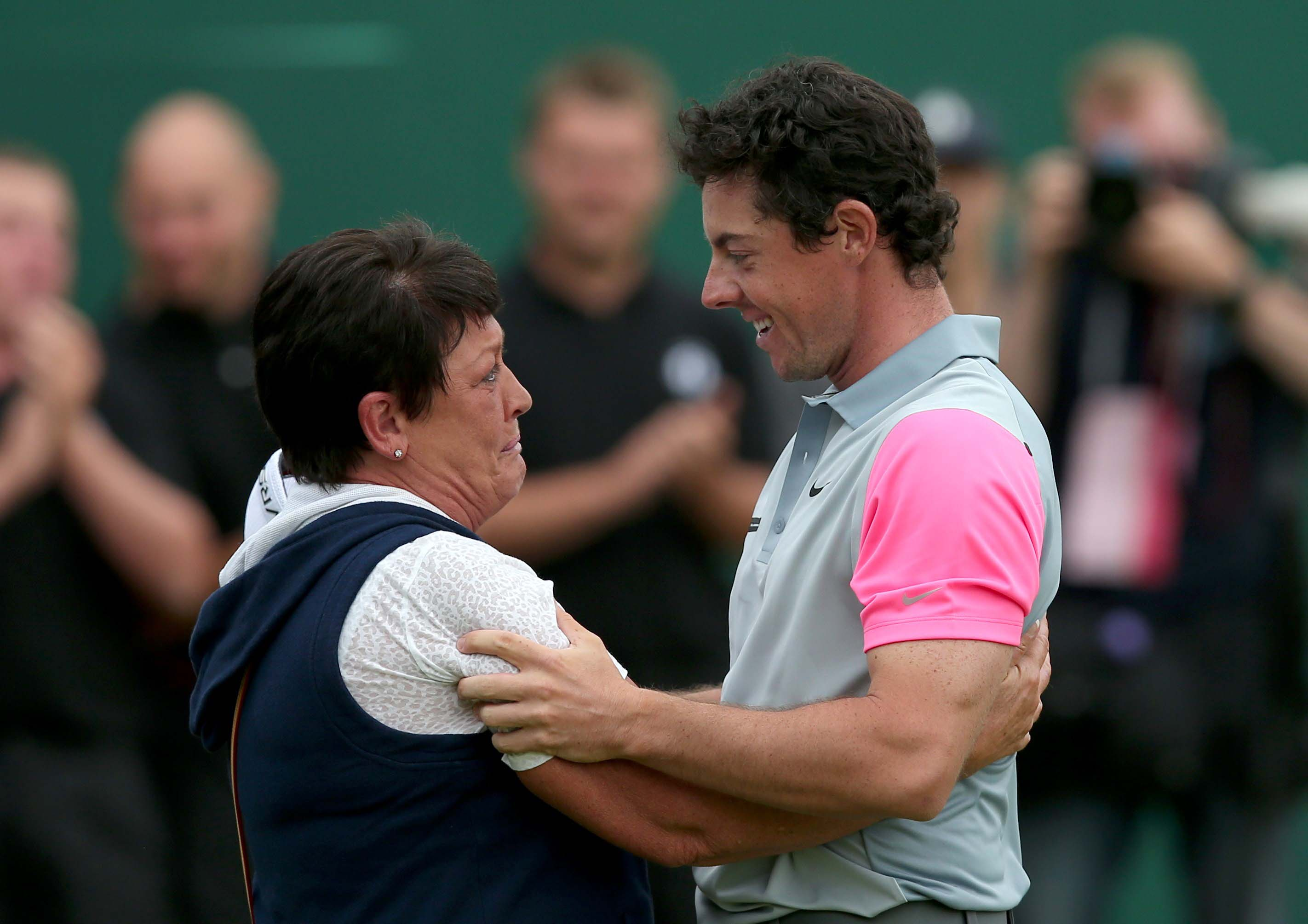 Rory McIlroy and his mother, Rosie